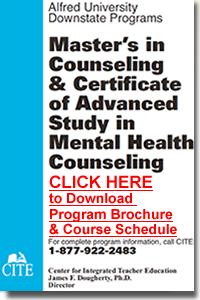 Click to download our brochure for Mental Health Counseling and the Advanced Certificate