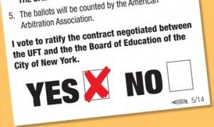 vote yes uft