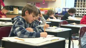 kids taking test