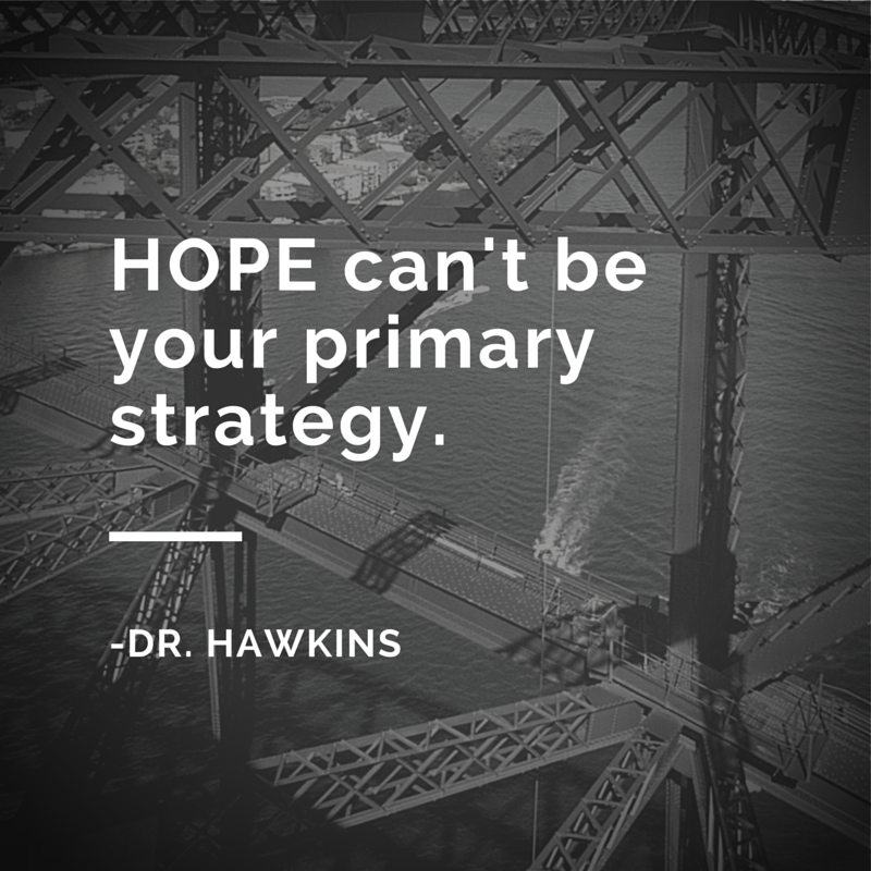 HOPE can't beyour primarystrategy.