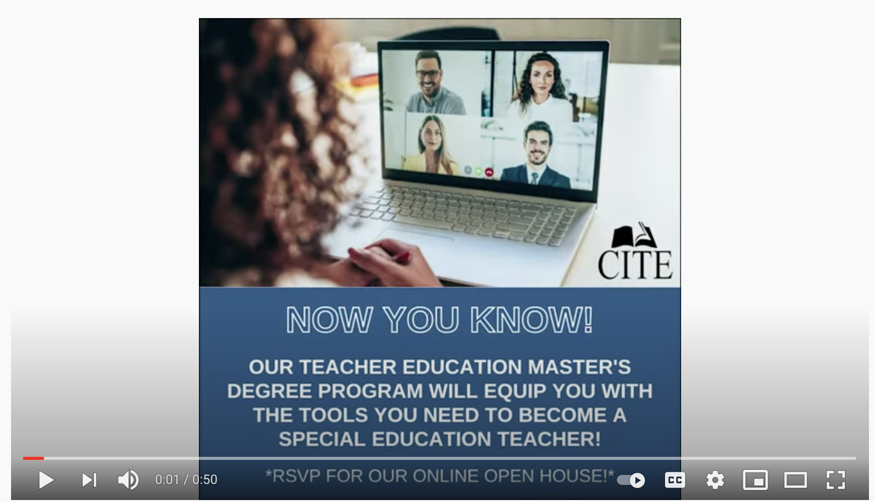 Special Education Master's – Current Student